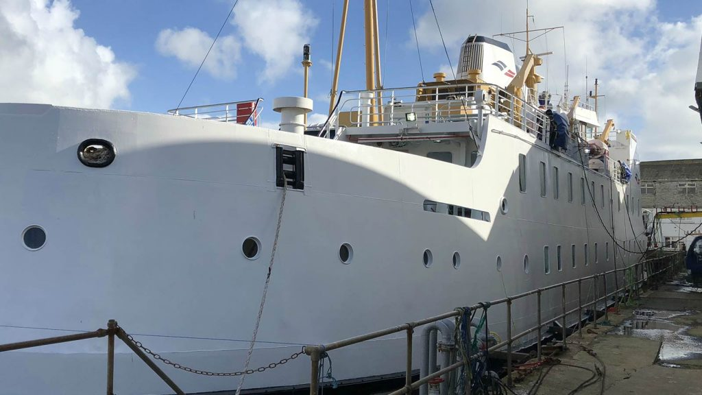 The Scillonian after an IHM asbestos survey