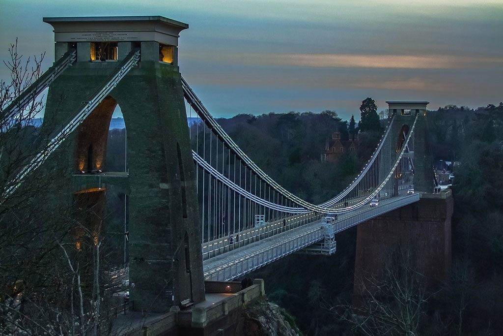 An image of Cliffden Suspension bridge to show that we offer asbestos surveys in the Bristol are