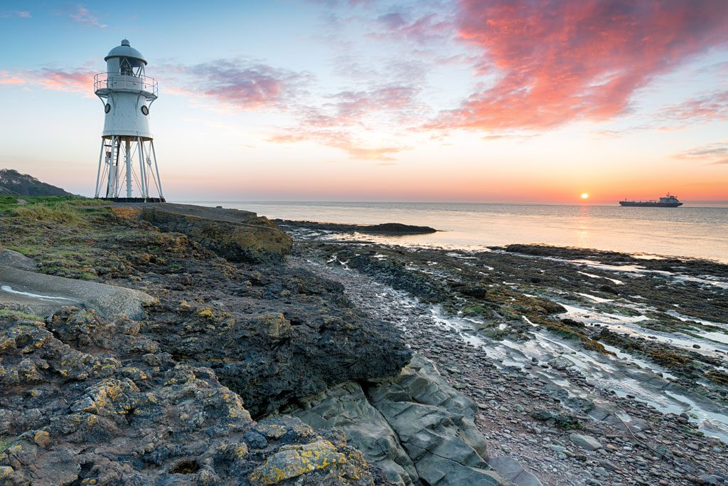 The a Somerset beach lighthouse where we carried-out an asbestos survey