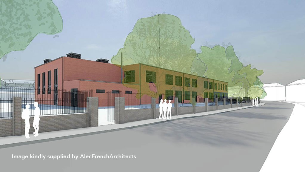 Architect's drawing of Kingfisher School in Bristol, where Allium carried-out asbestos surveys