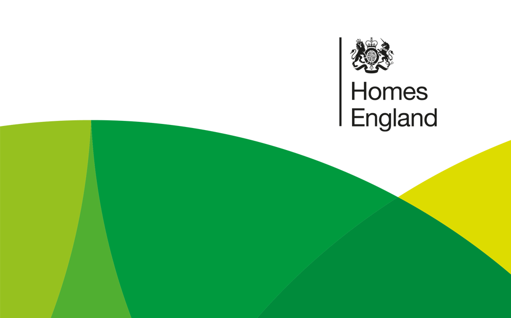 Homes England graphics and logo