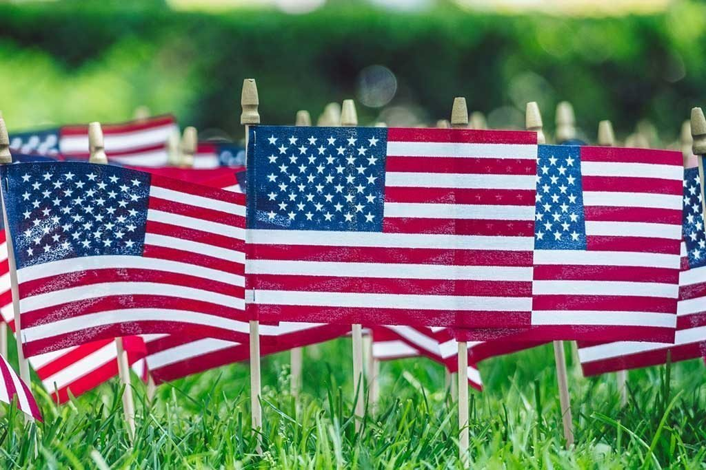 USA flags to depict where legionnaires disease comes from