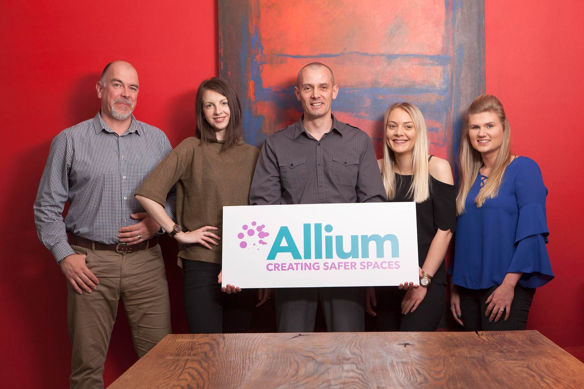 Allium Environmental - About page header of team members