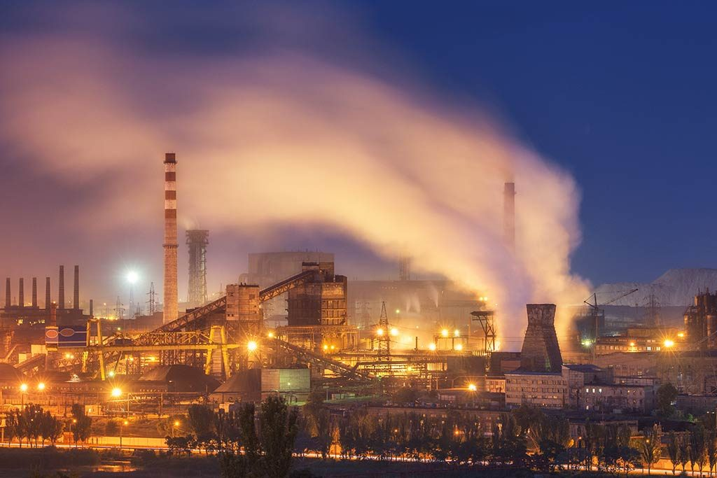 An industrial plant which needs an asbestos management survey