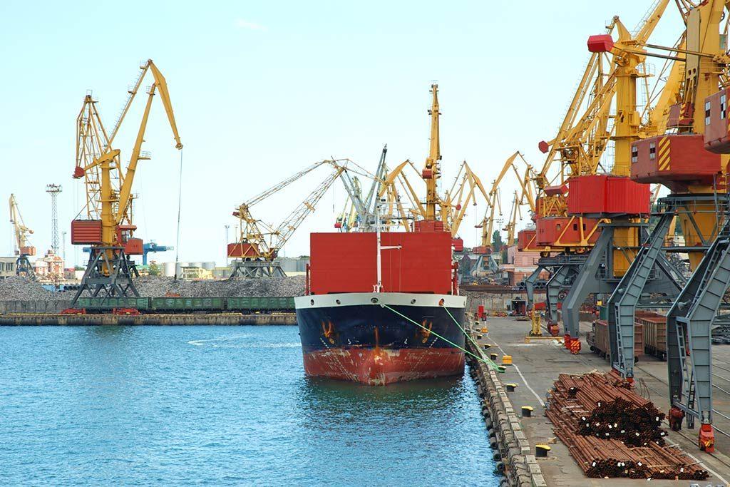 A ship in port awaiting an IHM asbestos survey