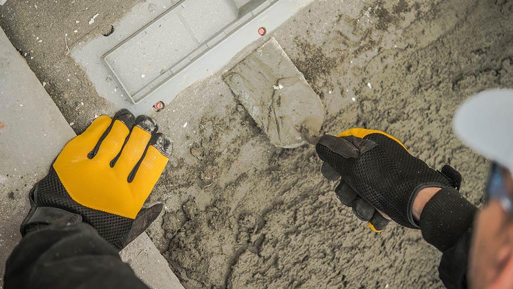 Asbestos in concrete drainage
